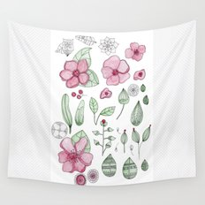 Watercolor Flower Wall Tapestry
