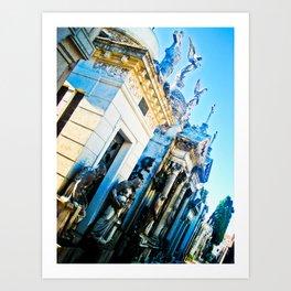 "Cemetery ""La Recoleta"". Art Print"