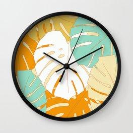 Big Sur Monstera Leaf Wall Clock