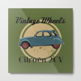 Vintage Wheels: Citroën 2CV Metal Print