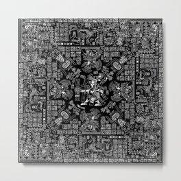 Mayan Spring B&W II Metal Print