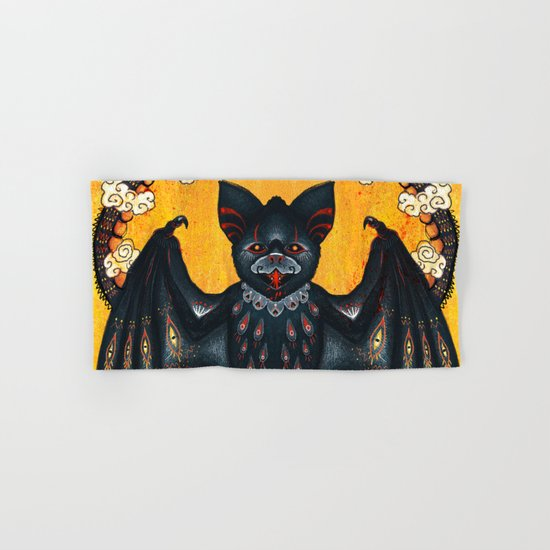 Black Bat Hand & Bath Towel