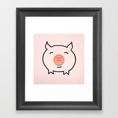 Button Pig Framed Art Print