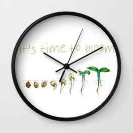 It's Time to Bloom! Wall Clock