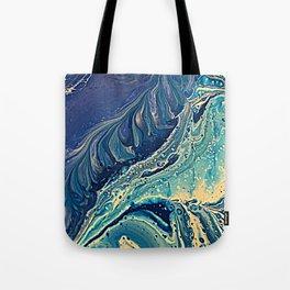 waves of blue Tote Bag