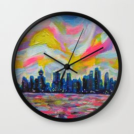An Evening In Vancouver Wall Clock