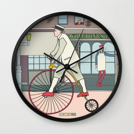Steampunk Penny-Farthing Velocipedes Wall Clock