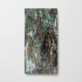 Weathered Iron rustic decor Metal Print