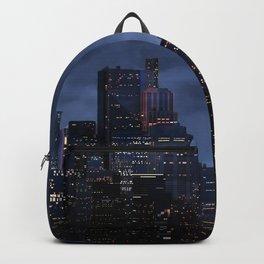 Night city panorama Backpack