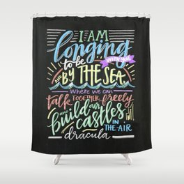 by the sea - dracula Shower Curtain