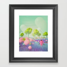 KINDA SUPER MARIO WORLD WITH DUDE (everyday 02.07.17) Framed Art Print