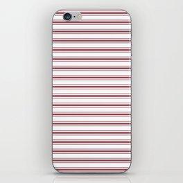 Dark Red Pear Mattress Ticking Wide Striped Pattern - Fall Fashion 2018 iPhone Skin