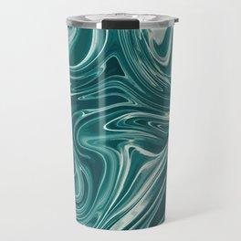Blue Liquid Marble 030 Travel Mug