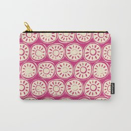 flower block ivory pink Carry-All Pouch