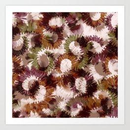tie dye shibori and brush pattern Art Print