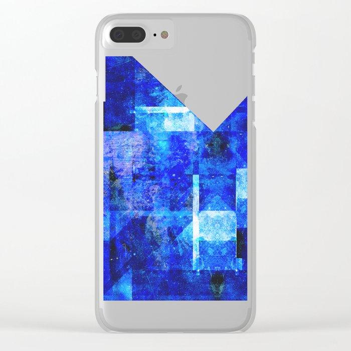Sapphire Nebulæ Clear iPhone Case