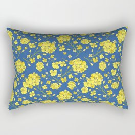 Floral Love of Mustard Rectangular Pillow
