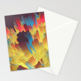 Glowing City Stationery Cards