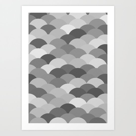 Circles Abstract 8 Art Print
