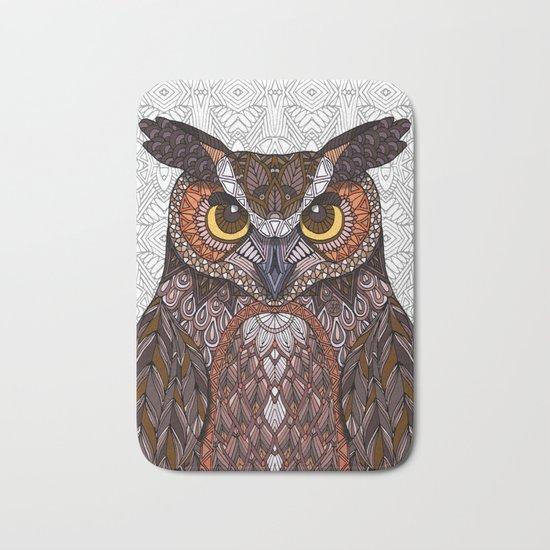 Great Horned Owl 2016 Bath Mat