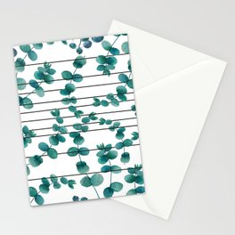 eucalypatus pattern Stationery Cards