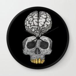 Losing my mind (black background) Wall Clock