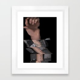 Hands On #4 (Series) Framed Art Print
