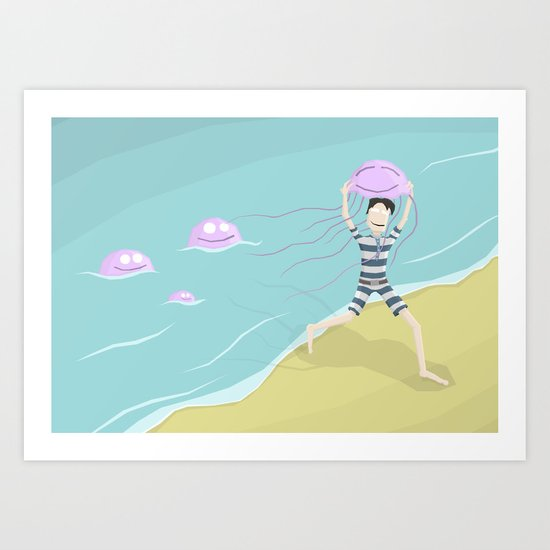 Jellyfish Race Art Print