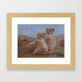 Cheetahs on the Lookout Framed Art Print