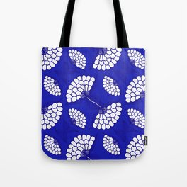 African Floral Motif on Royal Blue Tote Bag