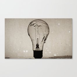 Light-bulb splash Canvas Print