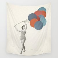 balloons Wall Tapestries featuring Balloons by Cassia Beck