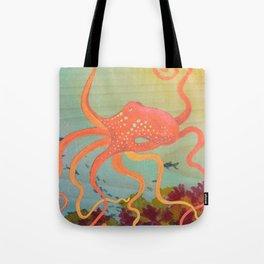 safety orange octopus Tote Bag
