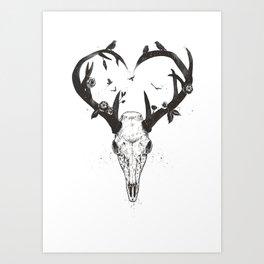 Neverending love (bw) Art Print