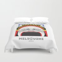 melbourne Duvet Covers featuring Melbourne by George Williams