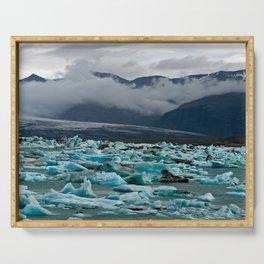 Glacial lake Jokulsarlon - Iceland Serving Tray