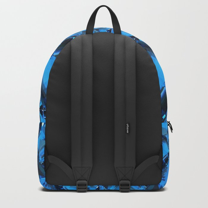 ORNATE  BLUE CRYSTAL GEMS PATTERN Backpack