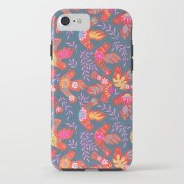 Folk art birds iPhone Case