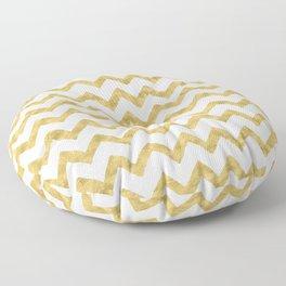 Chevron Gold And White Floor Pillow