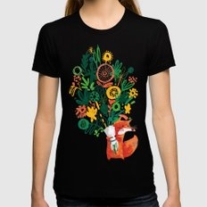 Flower Delivery Womens Fitted Tee Black MEDIUM