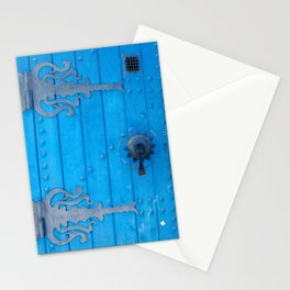 Ornate Blue Weathered Door and Ironwork Stationery Cards