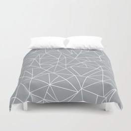 Abstraction Outline Grey Duvet Cover
