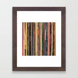 Alternative Rock Vinyl Records Framed Art Print