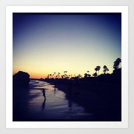 sunset in corona del mar Art Print