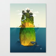 Pineapple isle Canvas Print