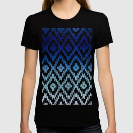 ombre blue ikat T-shirt