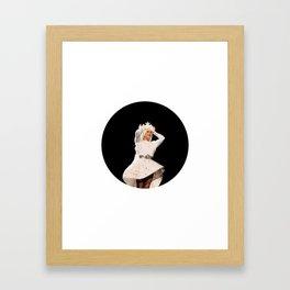 Lady Seashell Bikini Framed Art Print
