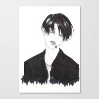 levi Canvas Prints featuring •Levi• by ll-kao