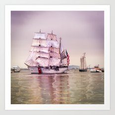 Tall Ships in Boston -USCG Art Print