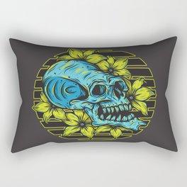 Floral Skull Rectangular Pillow